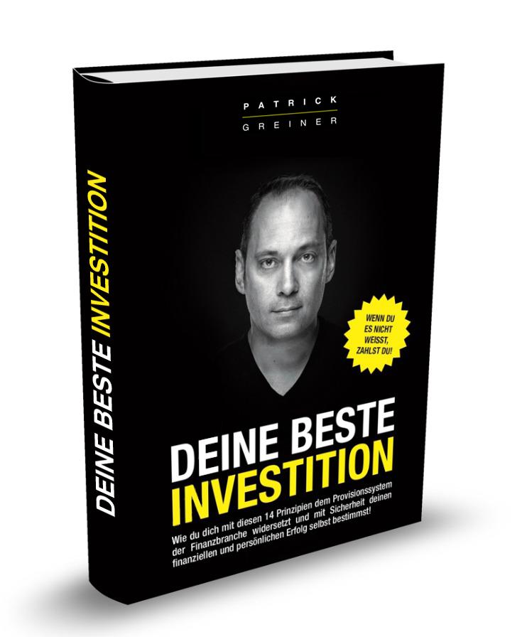 """Gratis* Buch: """"DEINE BESTE INVESTITION"""" - Patrick Greiner"""