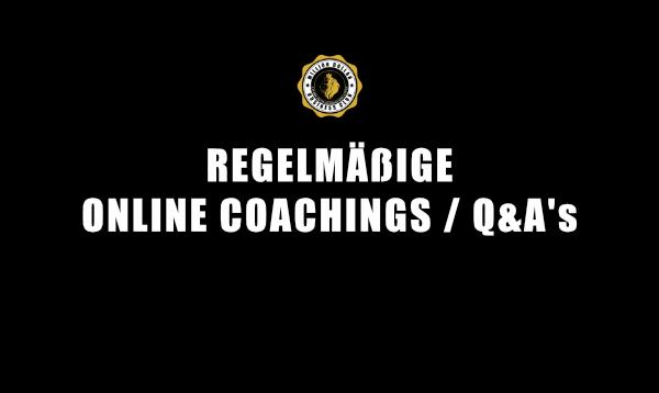 3. REGELMÄßIGE ONLINE COACHINGS Q&A